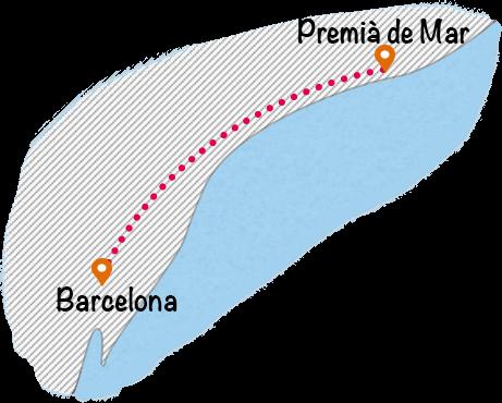バルセロナからプレミア